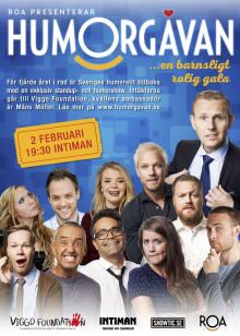 Fåtal biljetter kvar till 2017 års Humorgåva - en barnsligt rolig gala!