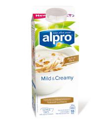 Vit sojalycka samsas med havre i Alpros nya fiberrika variant på yoghurt