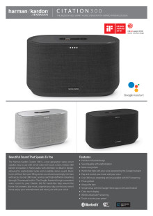 Harman Kardon Citation 300_Spec sheet