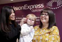 Toddler fighting eye cancer officially opens new optical store in Cleethorpes