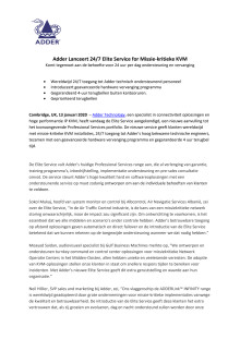 Adder Lanceert 24/7 Elite Service for Missie-kritieke KVM