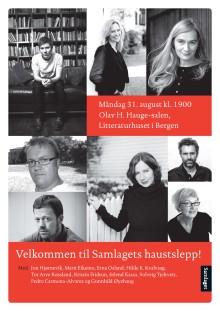 Samlaget presenterer haustlista i Bergen - måndag 31.8. på Litteraturhuset