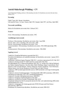 Astrid Söderberg Widding CV