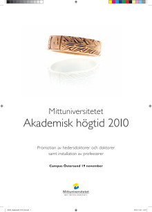 Mittuniversitetets akademiska högtid 2010