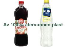 Orkla inför 100 procent återvunnen plast i dryckesflaskor från BOB och FUN Light
