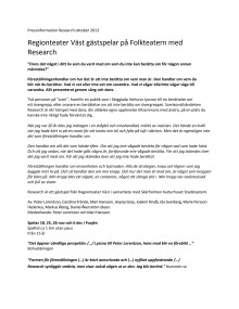 Pressinformation Research oktober 2013