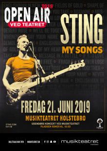 Sting spiller til Holstebro Musikteatrets Open Air fredag 21. juni