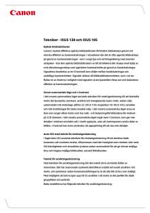 Teknikförklaringar IXUS 105_ IXU 130