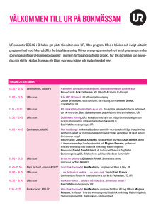 Program – UR på Bokmässan 2013