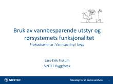 Presentasjon - Lars Frik Fiskum, Sintef, 09.06.15.