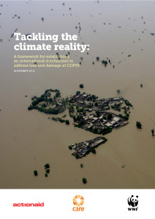 Ny rapport: Tackling the climate reality: A framework for establishing an international mechanism to address loss and damage at COP19
