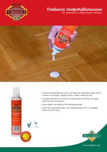 Timberex Underhållsmousse produktblad