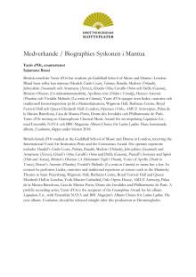 Medverkande / Biographies Syskonen i Mantua