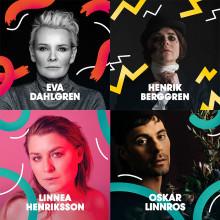 Eva Dahlgren, Henrik Berggren, Linnea Henriksson och Oskar Linnros klara för Malmöfestivalen!