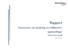 Rapport: Kommuner och landsting om hållbarhet i upphandlingar
