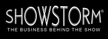 Showstorm Logo White on Black with Tagline