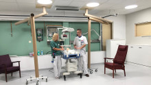 Medarbetare testar ny teknik för framtidens vård på Akademiska