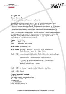 Inbjudan/program presidiekonferens 27 maj 2015