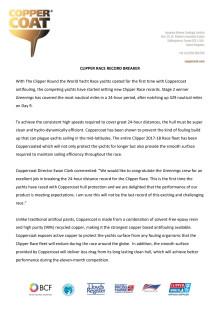 Coppercoat: CLIPPER RACE RECORD BREAKER