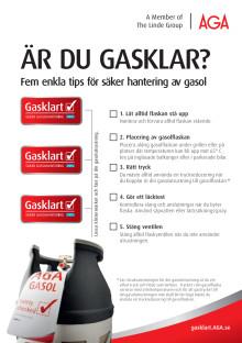 Är du Gasklar? AGA:s fem enkla tips för säker hantering av gasol!