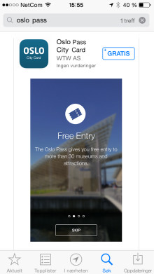 Oslo Pass jetzt auch als App verfügbar - Weltweit erste Städtepass-App