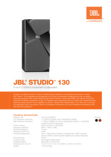 Specification sheet - JBL studio 130 (English)