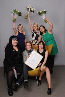 Aikakauslehtikilpailun voittajat: Vuoden 2011 toimitustiimin palkinnon sai Demi