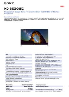 Datenblatt KD-55X9005C