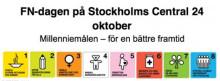 Besök Stockholms centralstation den 24 oktober: På årets FN-dag sätter vi fokus på millenniemålen