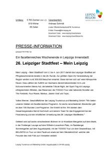 Programm zum 26. Leipziger Stadtfest