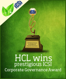 HCL vinner ICSI Corporate Governance Award