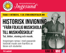 Pressinbjudan – musikaliskt firande av ny historisk utställning