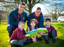 Rugby Players Say 'Try Reading'