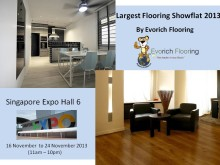 Largest Flooring Showflat 2013 by Evorich