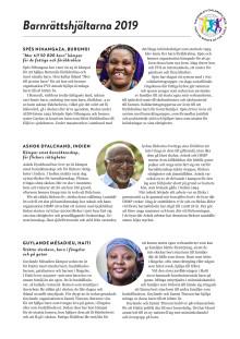 Nominerade barnrättshjältar 2019