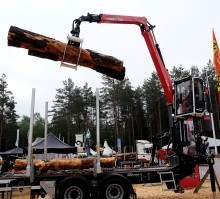 Palfinger offers a new crane for forest machines