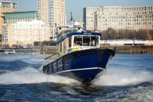 Officers save man from drowning in the River Thames