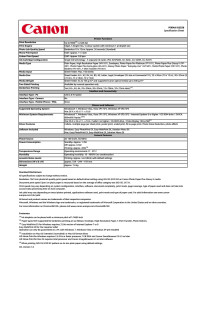 Teknisk specifikation Canon PIXMA iX6550