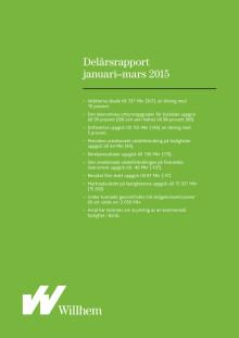 Willhems delårsrapport januari - mars 2015