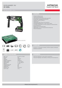 HITACHI Borhammer 18V DH18DSL (5,0Ah)