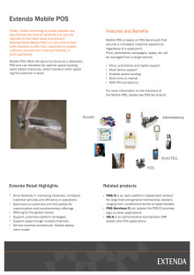 Extenda produktblad Mobile POS
