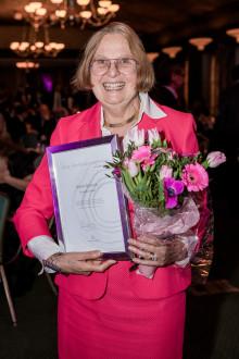 Barbara Bergström, Internationella Engelska Skolan, mottog utmärkelsen Årets Förebildsentreprenör på Entreprenörsgalan Öst