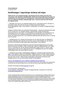 Värdebarometern 2015 Uppvidinges kommun