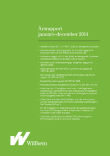 Willhems årsrapport januari – december 2014