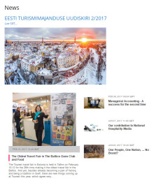 Estonian Hospitality & Tourism Industry Newsletter 2.0