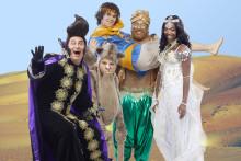 Familjeföreställningen Äventyret Aladdin till Scandinavium