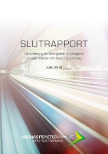 Utvärdering av Sverigeförhandlingen slutrapport