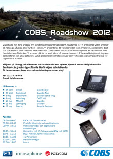 COBS Roadshow 2012