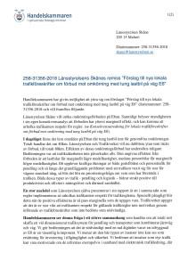 """Remissvar avseende """"Förslag till nya lokala trafikföreskrifter om förbud mot omkörning med tung lastbil på väg E6"""""""