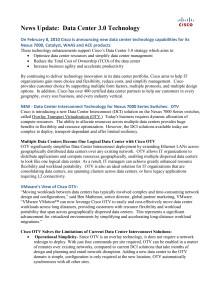 Faktablad om Datacenter 3.0 och OTV